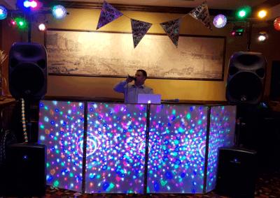 Our small setup onsite a pub